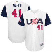 Wholesale Cheap Team USA #41 Danny Duffy White 2017 World MLB Classic Authentic Stitched MLB Jersey