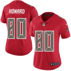 Wholesale Cheap Nike Buccaneers #80 O. J. Howard Red Women\'s Stitched NFL Limited Rush Jersey