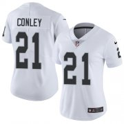 Wholesale Cheap Nike Raiders #21 Gareon Conley White Women's Stitched NFL Vapor Untouchable Limited Jersey
