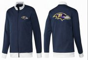 Wholesale NFL Baltimore Ravens Team Logo Jacket Dark Blue_1