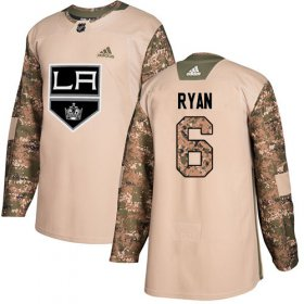 Wholesale Cheap Adidas Kings #6 Joakim Ryan Camo Authentic 2017 Veterans Day Stitched Youth NHL Jersey