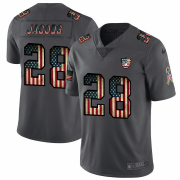 Wholesale Cheap Raiders #28 Josh Jacobs Nike 2018 Salute to Service Retro USA Flag Limited NFL Jersey