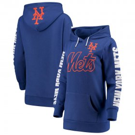 Wholesale Cheap New York Mets G-III 4Her by Carl Banks Women\'s Extra Innings Pullover Hoodie Royal
