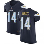 Wholesale Cheap Nike Chargers #14 Dan Fouts Navy Blue Team Color Men's Stitched NFL Vapor Untouchable Elite Jersey