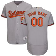 Wholesale Cheap Baltimore Orioles Majestic Road Flex Base Authentic Collection Custom Jersey Gray