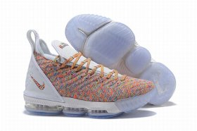 Wholesale Cheap Nike Lebron James 16 Air Cushion Shoes White Rainbow