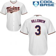 Wholesale Cheap Twins #3 Harmon Killebrew White Cool Base Stitched Youth MLB Jersey