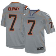 Wholesale Cheap Nike Broncos #7 John Elway Lights Out Grey Men's Stitched NFL Elite Jersey