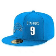 Wholesale Cheap Detroit Lions #9 Matthew Stafford Snapback Cap NFL Player Light Blue with White Number Stitched Hat