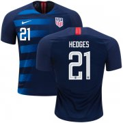 Wholesale Cheap Women's USA #21 Hedges Away Soccer Country Jersey