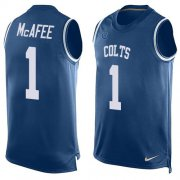 Wholesale Cheap Nike Colts #1 Pat McAfee Royal Blue Team Color Men's Stitched NFL Limited Tank Top Jersey