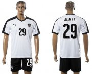 Wholesale Cheap Austria #29 Almer White Away Soccer Country Jersey