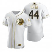 Wholesale Cheap Chicago Cubs #44 Anthony Rizzo White Nike Men's Authentic Golden Edition MLB Jersey