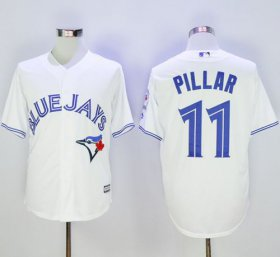 Wholesale Cheap Blue Jays #11 Kevin Pillar White New Cool Base 40th Anniversary Stitched MLB Jersey