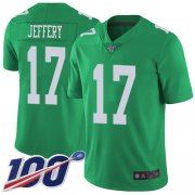 Wholesale Cheap Nike Eagles #17 Alshon Jeffery Green Men's Stitched NFL Limited Rush 100th Season Jersey