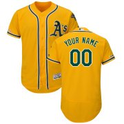 Wholesale Cheap Oakland Athletics Majestic Alternate Flex Base Authentic Collection Custom Jersey Gold