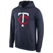 Wholesale Cheap Minnesota Twins Nike Logo Performance Pullover Navy MLB Hoodie