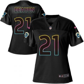 Wholesale Cheap Nike Rams #21 Donte Deayon Black Women\'s NFL Fashion Game Jersey