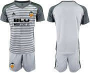 Wholesale Cheap Valencia Blank Grey Goalkeeper Soccer Club Jersey