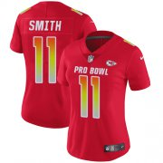 Wholesale Cheap Nike Chiefs #11 Alex Smith Red Women's Stitched NFL Limited AFC 2018 Pro Bowl Jersey