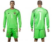 Wholesale Cheap Ukraine #1 Boyko Green Goalkeeper Long Sleeves Soccer Country Jersey
