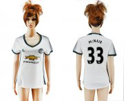 Wholesale Cheap Women's Manchester United #33 McNAIR Sec Away Soccer Club Jersey