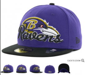 Wholesale Cheap Baltimore Ravens fitted hats 10
