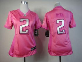Wholesale Cheap Nike Falcons #2 Matt Ryan Pink Women\'s Be Luv\'d Stitched NFL Elite Jersey