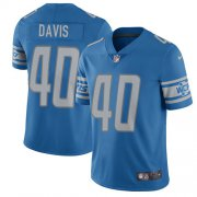 Wholesale Cheap Nike Lions #40 Jarrad Davis Light Blue Team Color Youth Stitched NFL Vapor Untouchable Limited Jersey