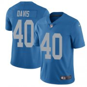 Wholesale Cheap Nike Lions #40 Jarrad Davis Blue Throwback Youth Stitched NFL Vapor Untouchable Limited Jersey