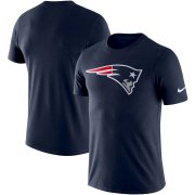 Wholesale Cheap New England Patriots Nike Essential Logo Dri-FIT Cotton T-Shirt Navy