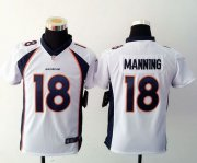 Wholesale Cheap Nike Broncos #18 Peyton Manning White Youth Stitched NFL Elite Jersey