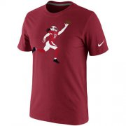 Wholesale Cheap Arizona Cardinals Larry Fitzgerald Nike Silhouette T-Shirt Red