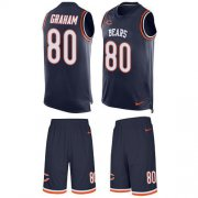 Wholesale Cheap Nike Bears #80 Jimmy Graham Navy Blue Team Color Men's Stitched NFL Limited Tank Top Suit Jersey