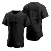 Wholesale Cheap Toronto Blue Jays #12 Roberto Alomar Men's Nike Black MLB MVP Limited Player Edition Jersey