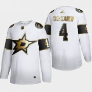 Wholesale Cheap Dallas Stars #4 Miro Heiskanen Men's Adidas White Golden Edition Limited Stitched NHL Jersey