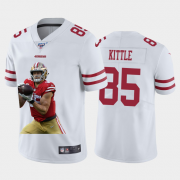 Cheap San Francisco 49ers #85 George Kittle Nike Team Hero 3 Vapor Limited NFL 100 Jersey White