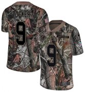 Wholesale Cheap Nike Ravens #9 Justin Tucker Camo Men's Stitched NFL Limited Rush Realtree Jersey