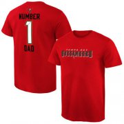 Wholesale Cheap Men's Tampa Bay Buccaneers Pro Line College Number 1 Dad T-Shirt Red