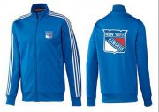 Wholesale Cheap NHL New York Rangers Zip Jackets Blue-3