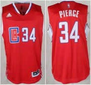 Wholesale Cheap Los Angeles Clippers #34 Paul Pierce Revolution 30 Swingman 2015 New Red Jersey