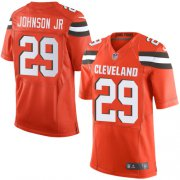 Wholesale Cheap Nike Browns #29 Duke Johnson Jr Orange Alternate Men's Stitched NFL New Elite Jersey