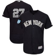 Wholesale Cheap Yankees #27 Giancarlo Stanton Navy Alternate 2019 Spring Training Flex Base Stitched MLB Jersey