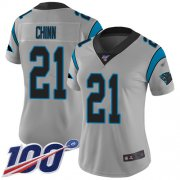 Wholesale Cheap Nike Panthers #21 Jeremy Chinn Silver Women's Stitched NFL Limited Inverted Legend 100th Season Jersey