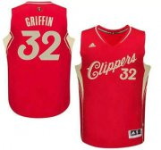 Wholesale Cheap Men's Los Angeles Clippers #32 Blake Griffin Revolution 30 Swingman 2015 Christmas Day Red Jersey