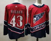 Wholesale Cheap Men's Washington Capitals #43 Tom Wilson Red 2021 Retro Stitched NHL Jersey