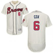 Wholesale Cheap Braves #6 Bobby Cox Cream Flexbase Authentic Collection Stitched MLB Jersey