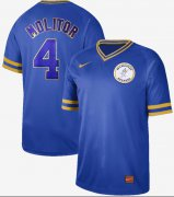 Wholesale Cheap Nike Brewers #4 Paul Molitor Royal Authentic Cooperstown Collection Stitched MLB Jersey