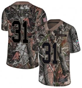 Wholesale Cheap Nike Chargers #31 Adrian Phillips Camo Men\'s Stitched NFL Limited Rush Realtree Jersey