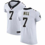 Wholesale Cheap Nike Saints #7 Taysom Hill White Men's Stitched NFL Vapor Untouchable Elite Jersey